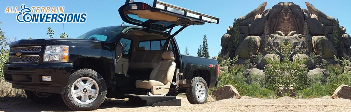 Wheelchair Truck by All Terrain Conversions on Texas Road