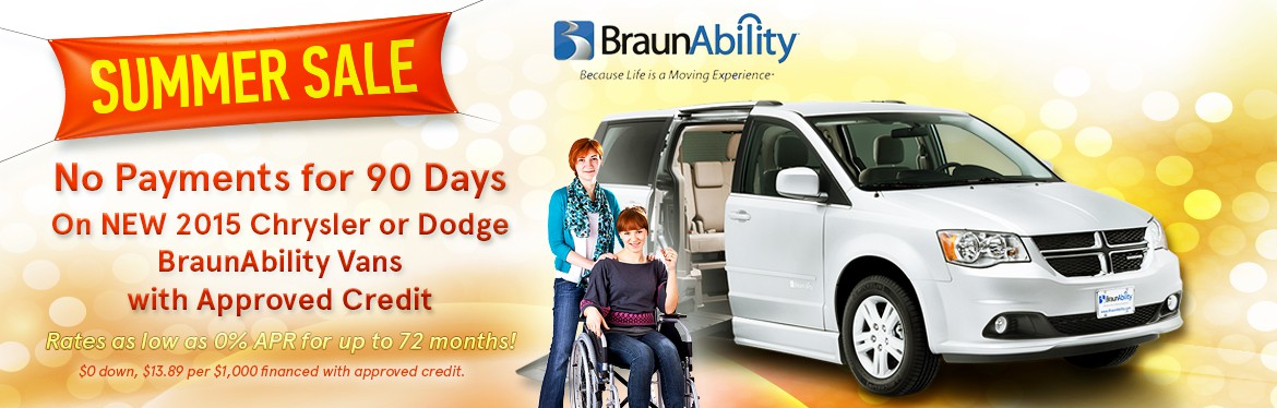Summer Sale with BraunAbility Vans